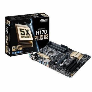 Product image of ASUS H170-PLUS D3 socket LGA1151 H1701 Chipset ATX Motherboard - 90MB0LW0-M0EAY0