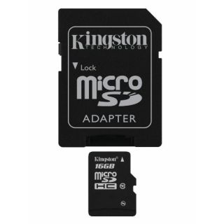 Product image of Kingston (16GB) microSDHC Card (Class 10) with Adaptor