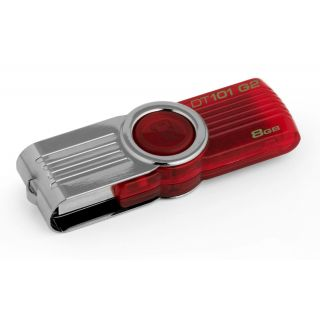 Product image of Kingston DataTraveler 101 8GB (G2) USB 2.0 Flash Drive (Red)