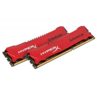 Product image of HyperX Savage 8GB (2x4GB) Memory Kit 1600MHz DDR3 Non-ECC CL9 240-pin DIMM Unbuffered 1.5V Intel XMP