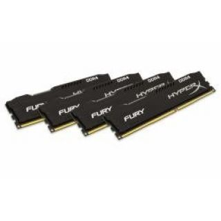 Product image of Kingston HX421C14FBK4/16 - 16GB DDR4-2133MHZ CL14 DIMM - (KIT OF 4) FURY BLACK SERIES