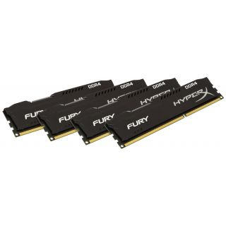 Product image of Kingston HX426C15FBK4/32 - 32GB DDR4-2666MHZ CL15 DIMM - (KIT OF 4)FURY BLACK SERIES