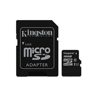 Product image of Kingston (16GB) microSDXC Class 10 UHS-I 45MB/s Read Card with Adapter