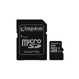 Product image of Kingston (8GB) microSDXC Class 10 UHS-I 45MB/s Read Card with Adapter