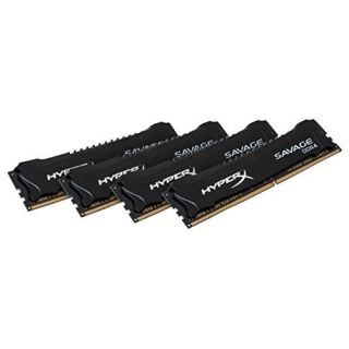 Product image of KINGSTON - HYPERX 64GB DDR4-2400MHZ CL14 DIMM KIT OF 4 XMP HYPERX SAVAGE BLACK