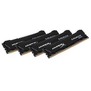 Product image of KINGSTON - HYPERX 32GB DDR4-3000MHZ CL15 DIMM KIT OF 4 XMP HYPERX SAVAGE BLACK