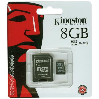 Product image of Kingston Micro SDHC 8GB SD Secure Digital Card (Class 4)*