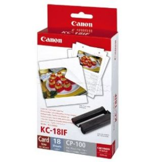 Product image of Canon KC-18IF Colour Ink and Paper Full-Size Label Set