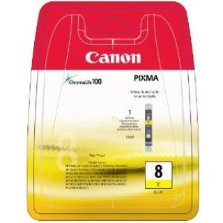 Product image of Canon CLI-8Y (Yellow) Ink Cartridge (Blister Pack)
