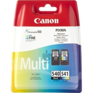 Product image of Canon PG-540BK (Black) - (Yield 180 Pages) + Canon CL-541C (Colour) - (Yield 180 Pages) Ink Cartridge (Multi-Pack)