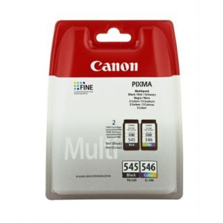 Product image of Canon PG-545/CL-546 KCMY Ink Cartridges (Pack of 2) 8287B005