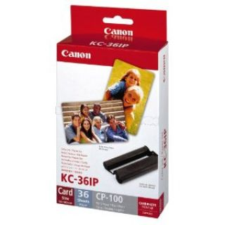 Product image of [Ex-Demo] Canon KC-36IP Colour Ink/Paper Set (Outer packaging damaged | Item as new)