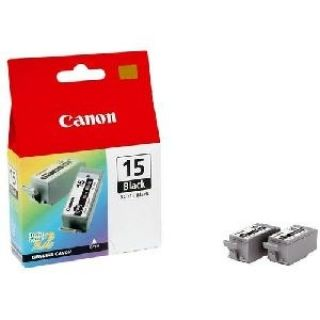 Product image of Canon BCI-15BK (Black) Ink Cartridge (Pack of 2)