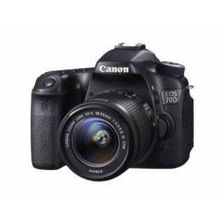 Product image of Canon EOS 70D (20.2MP) Digital SLR Camera 3.0 inch TFT Colour LCD Viewfinder Screen + 18-55 LS STM