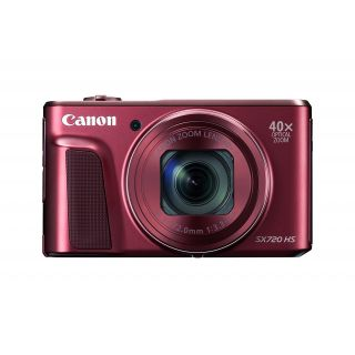 Product image of Canon PowerShot SX720 HS Digital Camera 20.3MP 40x Optical Zoom with 3.0 inch LCD Monitor (Red)