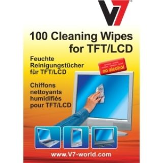Product image of V7 - Cleaning V7 Cleaning  Wipes Small Tube 100PCS For TFT LCD Notebook