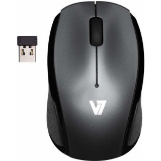 Product image of V7 - Input Devices V7 Mouse Optical 2 4GHZ Wireless USB Black/Grey 3 Button Blister