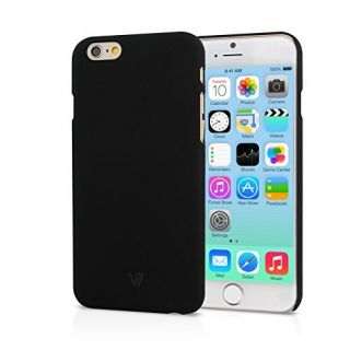 Product image of V7 - APPLE ACCS V7 IPHONE 6 SOFT CASE 4.7IN BLK RUBBER FINISH ANTI-SLIP BLACK