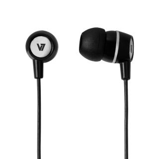 Product image of V7 Stereo Earbuds with Inline Microphone (Black)