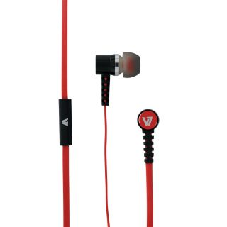 Product image of V7 - A. AUDIO V7 EARPOD COMFFIT INLINEMIC RED 3.5MM PLUG FOR MOBILE DEVICES IN