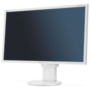 Product image of NEC E233WM White 23 INCH LCD monitor with LED backlight  TN panel  1920x1080  VGA  DVI-D  DisplayPort  110mm height adjustable