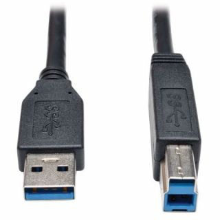 Product image of Tripp Lite (3.05m) USB 3.0 SuperSpeed Device Cable (AB M/M) Black