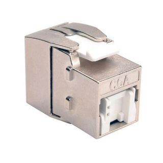 Product image of Tripp Lite (Grey) Toolless Shielded Cat6a Keystone Jack