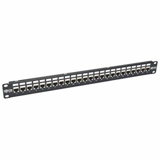 Product image of Tripp Lite (1U) 24 Port Rackmount STP Shielded Cat6a Feedthrough Patch Panel