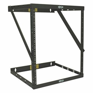 Product image of Tripp Lite SmartRack (8U/12U/22U) Expandable Very Low-Profile Patch-Depth Wall Mount 2-Post Open-Frame Rack (Black)