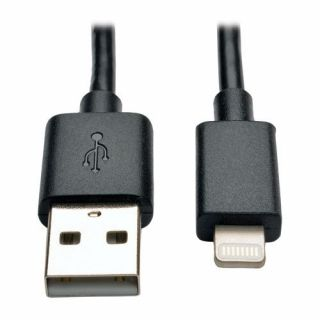 Product image of Tripp Lite (0.25m) USB Sync / Charge Cable with Lightning Connector - Black
