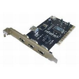 Product image of DYNAMODE PCI-3PFW-LP Dynamode (PCI-3PFW-LP) 4-Port FireWire Card PCI 3 x Ext 1 x Int Low Profile Bracket