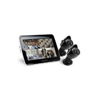 Product image of Securix SMC4 (500GB) CCTV Kit Comprising a 4 Channel DVR System with Built-in LCD Screen Combo with Smartphone Access and 2 x Weatherproof Cameras