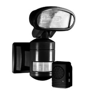 Product image of NightWatcher NW300 Robotic Halogen Security Light with Alarm (Black)