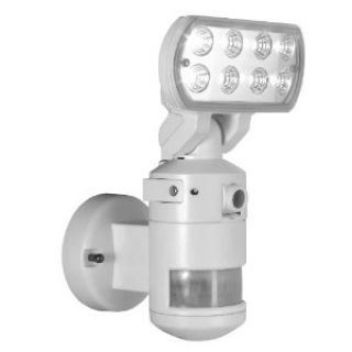 Product image of NightWatcher NW700 Robotic LED Security Light with Video Security Camera and 2GB SD Recorder (White)