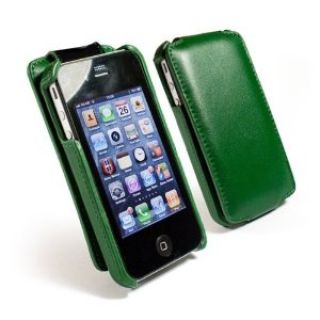 Product image of Tuff-Luv Tuff-Grip Faux Leather Case (Green) for iPhone 4/4s
