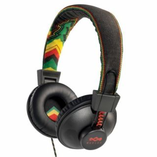 Product image of HOMEDICS House of Marley Jammin Range, Positive Vibration On-Ear Headphone, Rasta