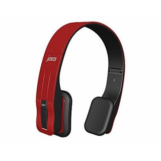 Product image of HOMEDICS HMDX Jam Fusion - Headphones with mic - on-ear - wireless - Bluetooth - red strawberry