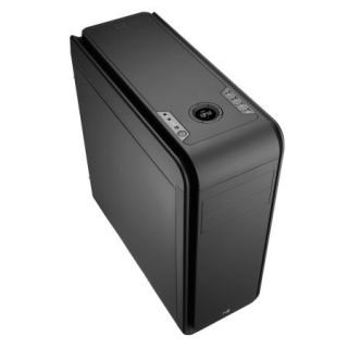 Product image of AEROCOOL EN52605 Aerocool DS200 Gaming Case, ATX, 400W, USB3, Noise Dampening, LCD, Fan Controller, Black