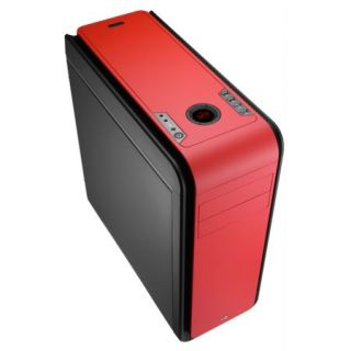 Product image of AEROCOOL EN52582 Aerocool DS200 Gaming Case, ATX, No PSU, USB3, Noise Dampening, LCD, Fan Controller, Red