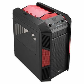 Product image of Aero Cool EN52834 Aerocool Xpredator Cube Micro-ATX Case - Black/Red