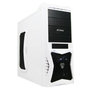 Product image of SPIRE VANTAGE-WHITE Spire Vantage ATX Gamer Case No PSU Card Reader 3 x 12cm White LED Fan White