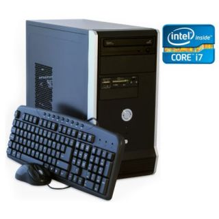 Product image of SPIREPC I74770NO45-6 Spire PC, Micro ATX, I7-4770, 4GB, 500GB, Logitech KB & Mouse, Card Reader, No Operating System