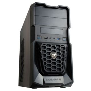 Product image of COUGAR P1/5SS7-SPIKE Cougar Spike Mini Gamer Case, Micro ATX, No PSU, USB 3.0, 330mm GFX Card, Black*