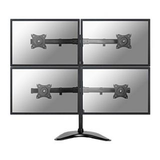 Product image of NewStar NM-D335D4BLACK Desk Mount for 4 Flat Screens up to 27 inch
