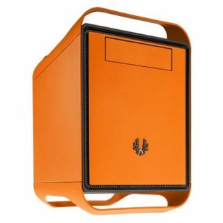 Product image of BITFENIX BFC-PRM-300-OOXKK-RP BitFenix Prodigy M Cube Case Micro ATX No PSU Dual Fan USB 3.0 5 x PCI Handles Orange