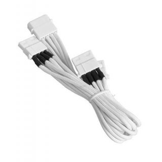 Product image of BitFenix BFA-MSC-M3MWW-RP BitFenix Alchemy Molex to 3x Molex Adapter 55cm - sleeved white/white