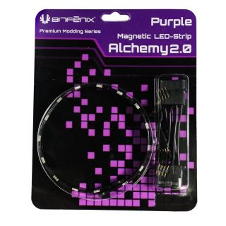 Product image of BitFenix Alchemy 2.0 Magnetic Connect 6 LED-Strip 12cm - Purple