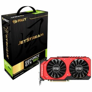 Product image of PALIT NE5X960010G1-2061J Palit GTX960 Jetstream 4GB DDR5 2 DVI HDMI DP LEDs 1178 MHz Boost ThunderMaster Overclocking