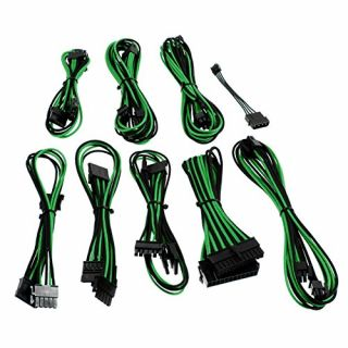 Product image of Cable Mod CM-BSX-FKIT-KKG-R CableMod B-Series SP 10-CM Cable Kit - Black & Green