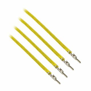 Product image of Cable Mod CM-MSW-8Y-4-R CableMod ModFlex Sleeved Cable Yellow 20cm - 4 Pack